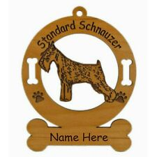 Standard Schnauzer Standing Dog Ornament Personalized With Your Dogs Name 4148