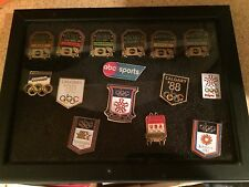 15 Olympics Pins ABC McDonald's Federal Express Calgary Seoul Los Angeles