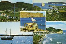 La Gaspesie Perce QC Quebec Multiview Vintage Postcard D20