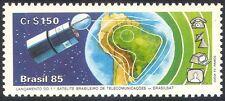 Brésil 1985 Espace/Communications/Télécom/satellite/cartes/TV/téléphone 1 V (n29476)