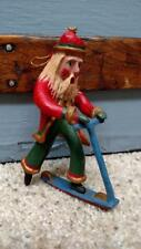 1994 Bill Jauquet Folk Americana CHRISTMAS Santa riding Scooter Ornament