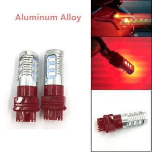 2PCS 12V  3157 Red LED Stop Brake Flash Strobe Rear Light Bulbs Universal Fine
