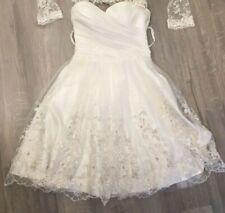 Hochzeitskleid kurz,schnürrbar,38