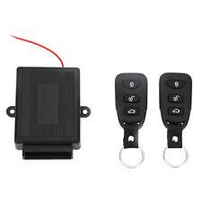 Universal Black Car Auto Alarm Remote Central Kit Door Lock Keyless Entry System