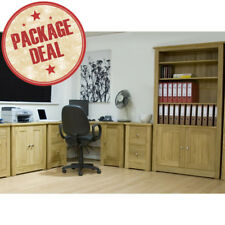 Ohio Solid Oak Furniture Complete Home Office Package Deal