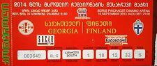 TICKET 10.10.2013 Georgien Georgia - Finnland