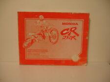 honda cr 250 r 1998 manuel atelier SHOP MANUAL WERKSTATT-HANDBUCH INSTRUCTIEBOEK