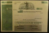 Consolidated Edison Company of New York, Stock Certificate (100 shares)