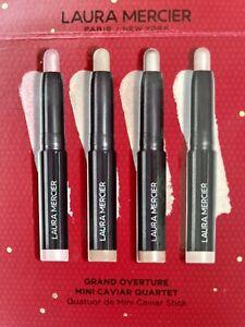 New Laura Mercier Grand Overture Mini Caviar Quartet Eyeshadow Cover Sticks NIB