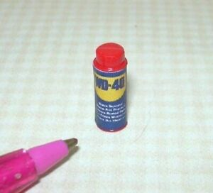 Miniature Can of Spray Lubricant for DOLLHOUSE, 1:12  Scale