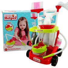Bambini Bimbi Ragazze Rosso pulizia Trolley Carrello Gioco di Ruolo Giocattolo Set
