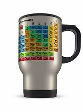 14 Onzas tabla periódica de los elementos de novedad Regalo Aluminio Taza De Viaje