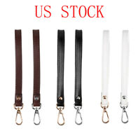 Genuine Leather Buckle Clip Wrist Strap Hand-Free Wristlet for Purse/Clutch 8""
