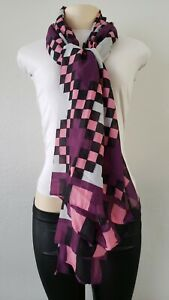 Pattern Pink and Purple Scarf Fast Shipping