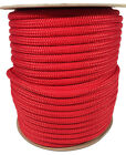 Anchor Rope Dock Line 38 X 150 Double Braided 100 Nylon Red Made In Usa