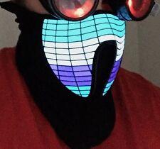 Sound activated. LED Mask. EL Panel Mask. Rave Mask. Costume Mask. Cosplay Mask.