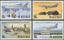 "Nauru 1980 ""Air Nauru"" 10th/Aircraft/Planes/Aviation/Transport 4v set (n17874)"
