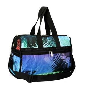 LeSportsac Classic Deluxe Med Weekender Duffel Bag in Miami Sunrise NWT
