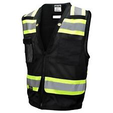 Radians Type O Class 1 Heavy Duty Surveyor Safety Vest, Black