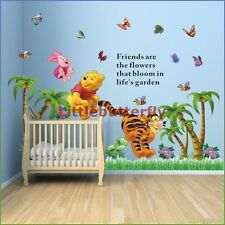 Winnie The Pooh butterfly/tree pegatinas de pared Infantiles Baby Kids Vinilo calcomanía-S3