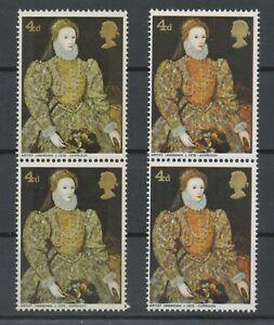 GB 1968 British Paintings 4D U/M MAJOR VARIETY MISSING COLOR VERMILLION GBP1400
