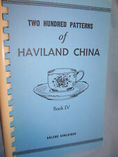 ARLENE SCHLEIGER Haviland China Illustrated PATTERN IDENTIFICATION Guide Book 4