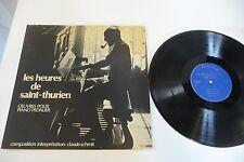 LES HEURES DE SAINT-THURIEN LP OEUVRES POUR PIANO PEDALIER CLAUDE SCHMIT SIGNED!