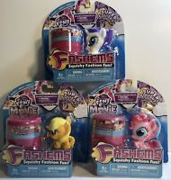 FASH'EMS My Little Pony Squishy Fashion Fun + Bonus Case  Series 7 - Lot of 3