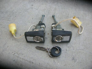 Genuine Mercedes Benz W-124 Class Front Doors, Locks Set with 1 Key Used Nice