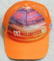 Volunteer Orange Baseball Style Hat Sunset Graphic Adult Snapback Cap Boca Gear