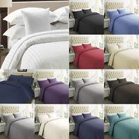 TC400 Stripe 100% Egyptian Cotton Duvet Cover & Pillow Case Bedding Set All Size