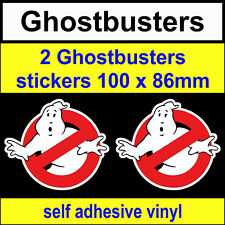 2 Ghostbusters Stickers Funny Novelty toolbox VW DUB JDM fun van bike Car Decal