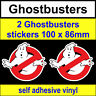 2 Ghostbusters Stickers Funny Novelty toolbox VW DUB JDM fun van bike Car Decal