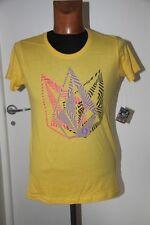 Original  Tee Shirt VOLCOM Trip tip  jaune taille L neuf