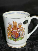 Bone China Commemorative Mug Prince Andrew & Sarah Ferguson Wedding 1986 AYNSLEY