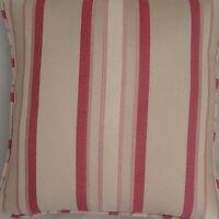 A 16 Inch Cushion Cover In Laura Ashley Forbury Cerise Stripe Fabric