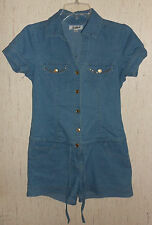 WOMENS / JUNIORS Southpole DISTRESSED BLUE JEAN ROMPER / SHORTALLS  SIZE S