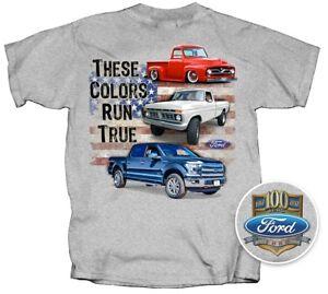 53 to 2017 Ford F100 - F150 Pickup Truck T-shirt -100% Cotton Preshrunk Grey