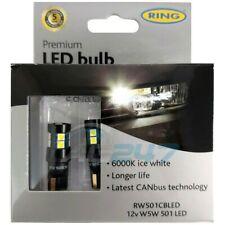 12V LED 501 6000K Capless Canbuss Error Free Side Tail Interior or Number Plate