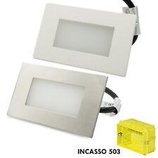 Segnapassi esterno LED faretto giardino 3W incasso cassetta 503 4000K IP65 230v