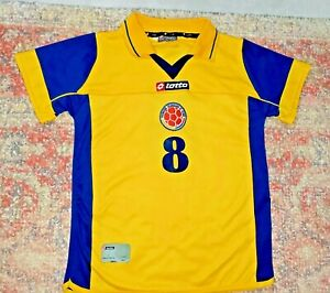 Vintage Lotto Colombia #8 David Ferreira Football 2002/04 Home Jersey~YOUTH 12