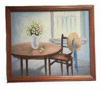 Oil On Canvas Original Painting Picture Still Life by Arin Tronp Framed & Signed