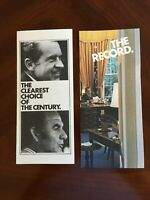 Lot of 2 Re-Elect Nixon Campaign Brochures The Clear Choice and The Record
