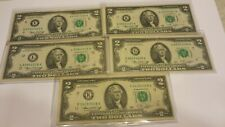 1976 $2 TWO DOLLAR BILL CIRCULATED ONE NOTE  AU BU NOTES-NICE-IN HOLDERS