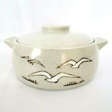 Otagiri Seagulls Stoneware Covered Casserole Dish with Lid