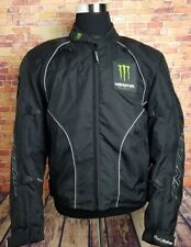 ONeal Monster Energy Fred Andrews Mens XL Racing Motorcycle Jacket Padded Black