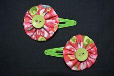 Girls hair clips - handmade