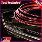 Red 5M Car Interior Door Gap Edge Line Insert Molding Trim Strip Deco Accessory