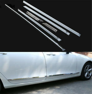 6pcs For Volvo S90 2017 2018 2019 ABS Chrome Door Body Side Molding Cover Trim