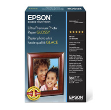 EPSON Glossy Photo Paper 4x6 100 Sheets Long Lasting Fast Drying Ultra Premium